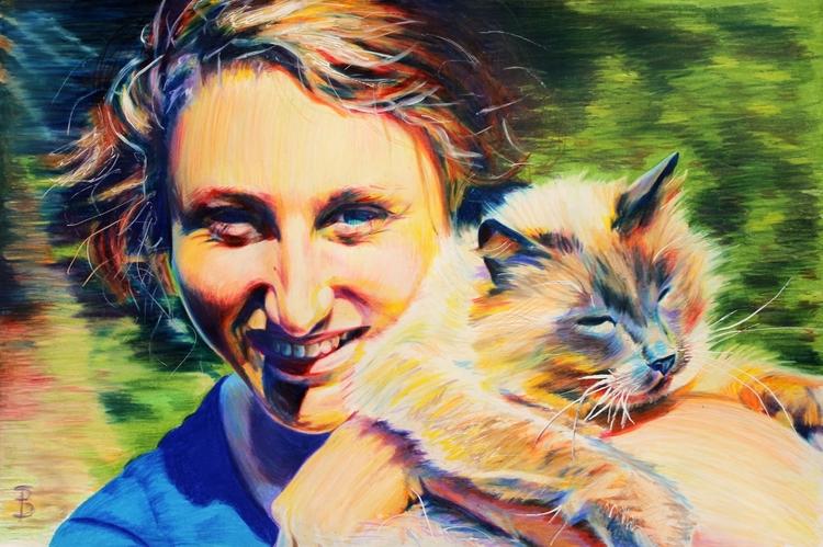 Sierra Cabbit (colored pencil d - skyler_brown_portraits | ello