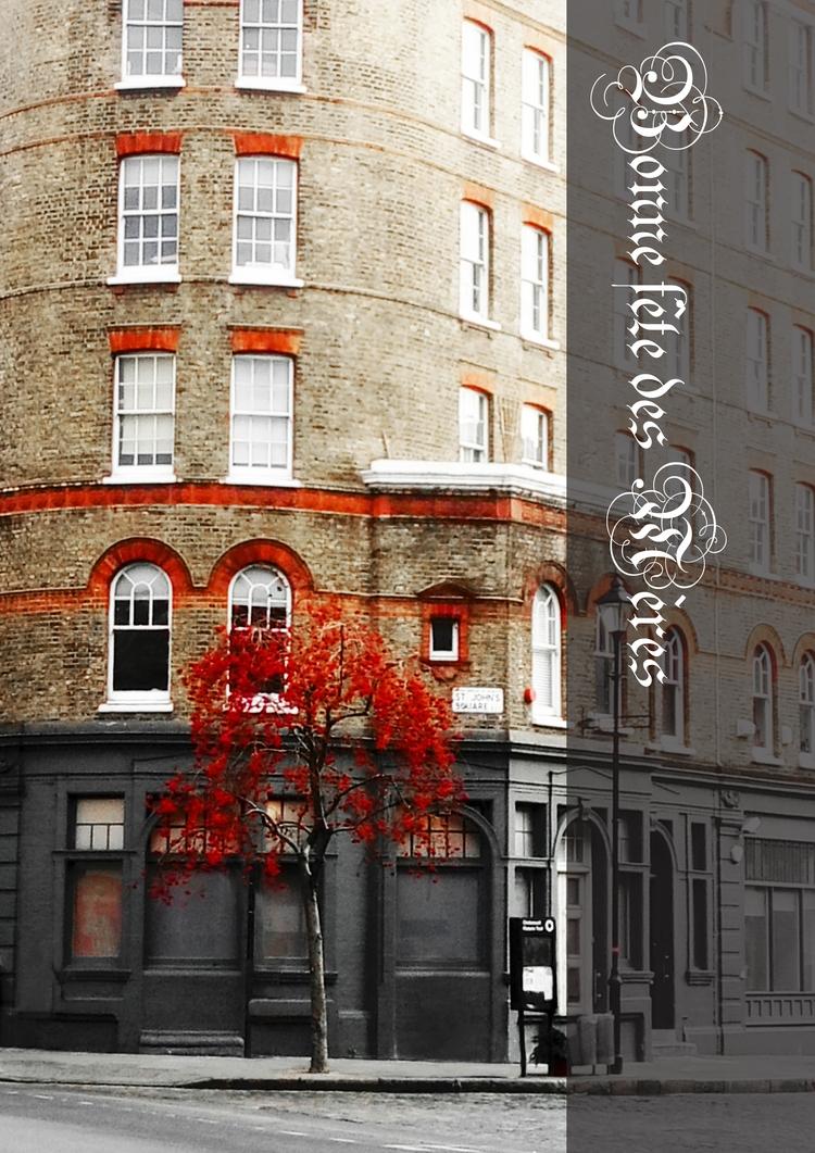 postcard, redtree, arbrerouge - linecaro | ello