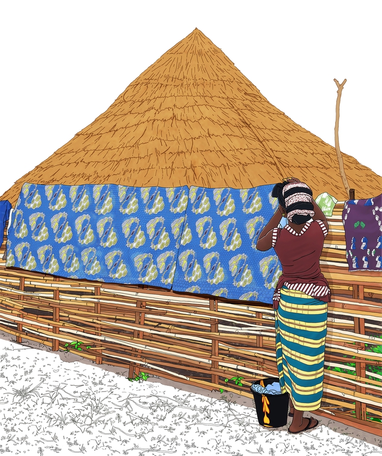 Senegal travel book illustratio - digitalillustrationworks   ello