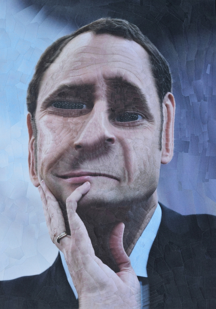 Emmanuel Macron, paper collage  - loladupre   ello