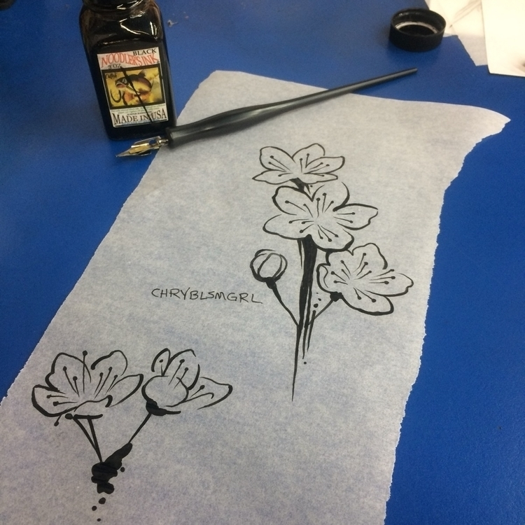 DipPen, ink, drawing, watercolor - levigreenacres | ello