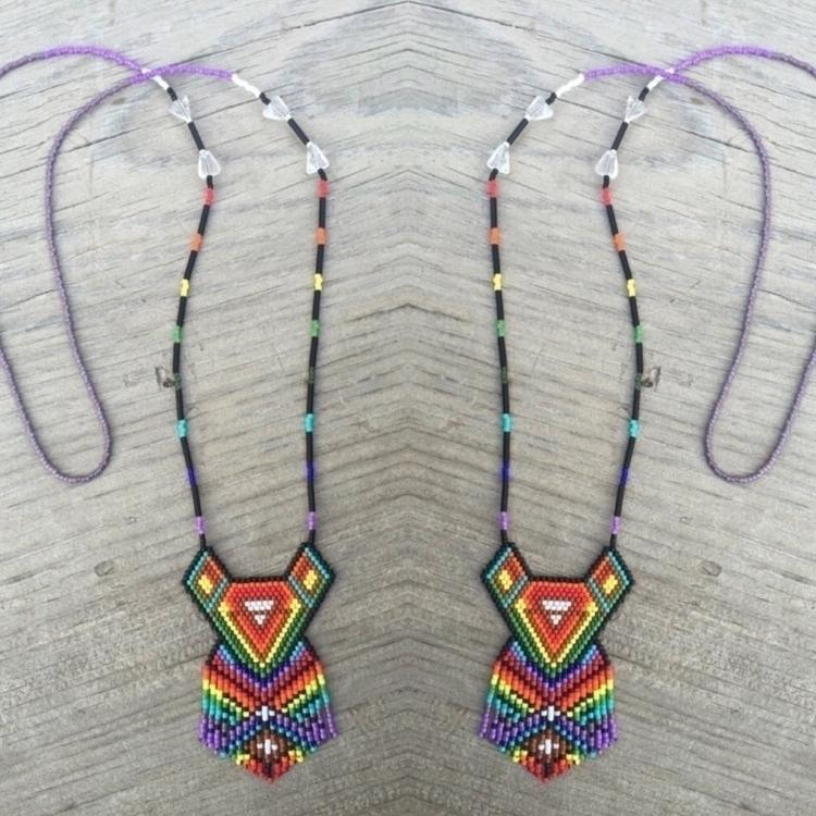 beading, rainbow, geometric, handmade - lulubeadingbear | ello