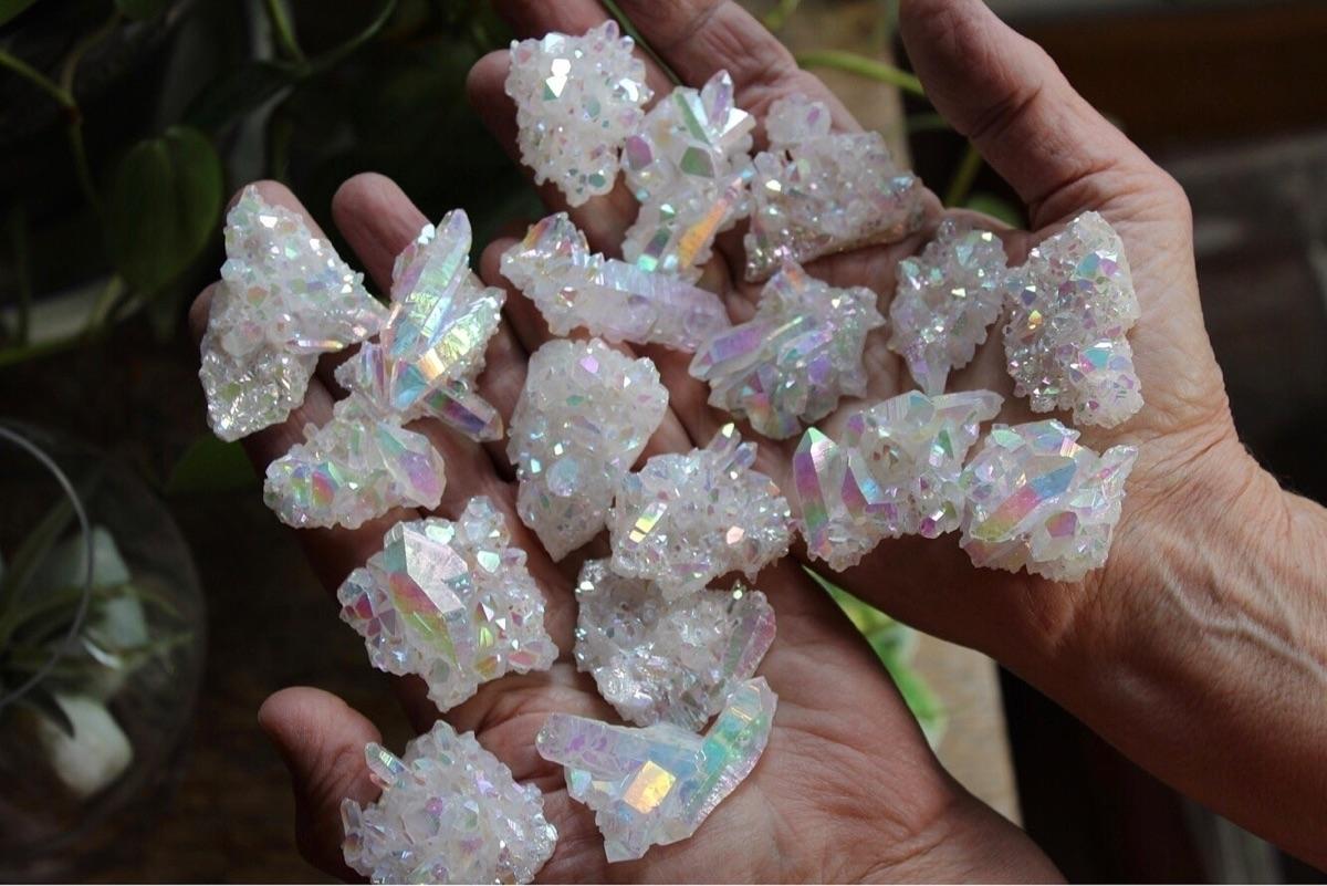 angel aura jewelry buttons Etsy - allthatshimmerzz | ello