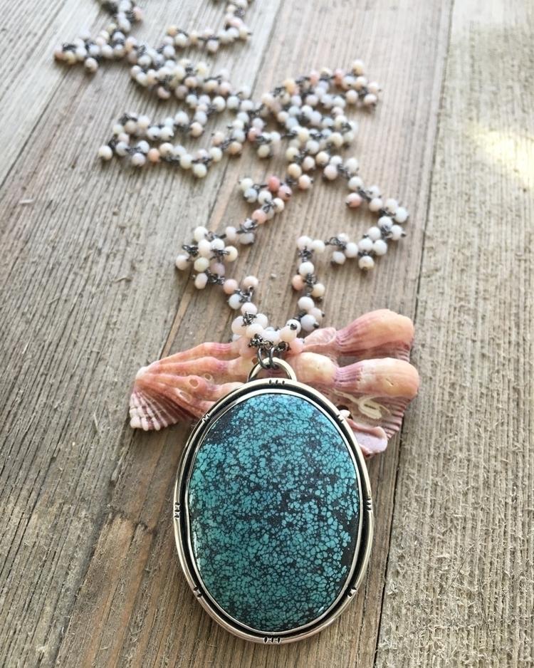 stunning turquoise pendant pink - theseaandme | ello