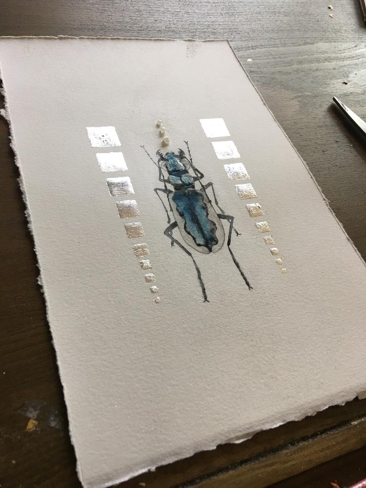 beetle working - artist, artstudio - alexakarabin | ello