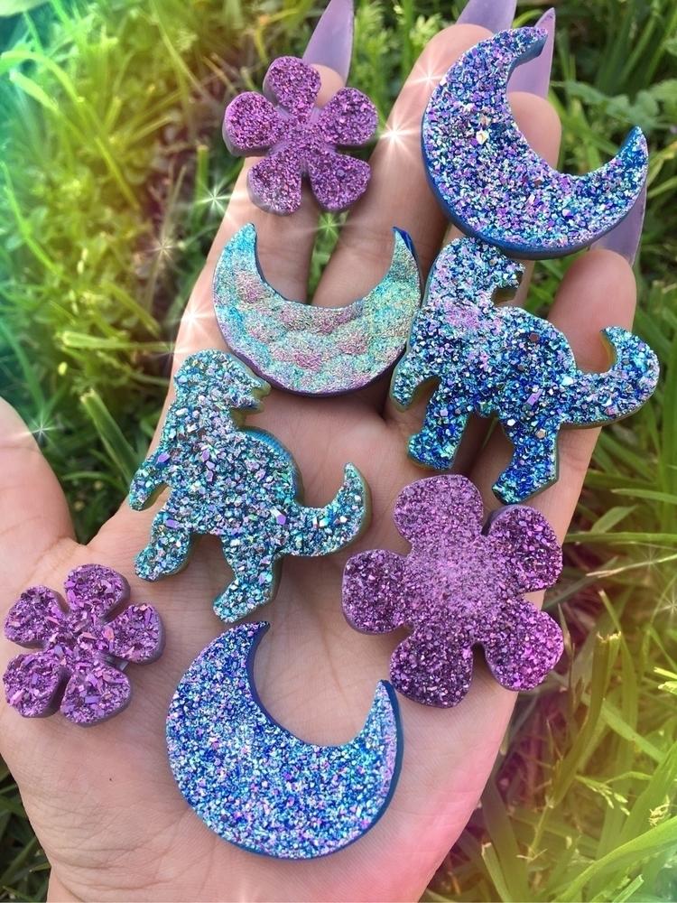 Aura druzzy shapes - crystals, auracrystals - prismsouls   ello