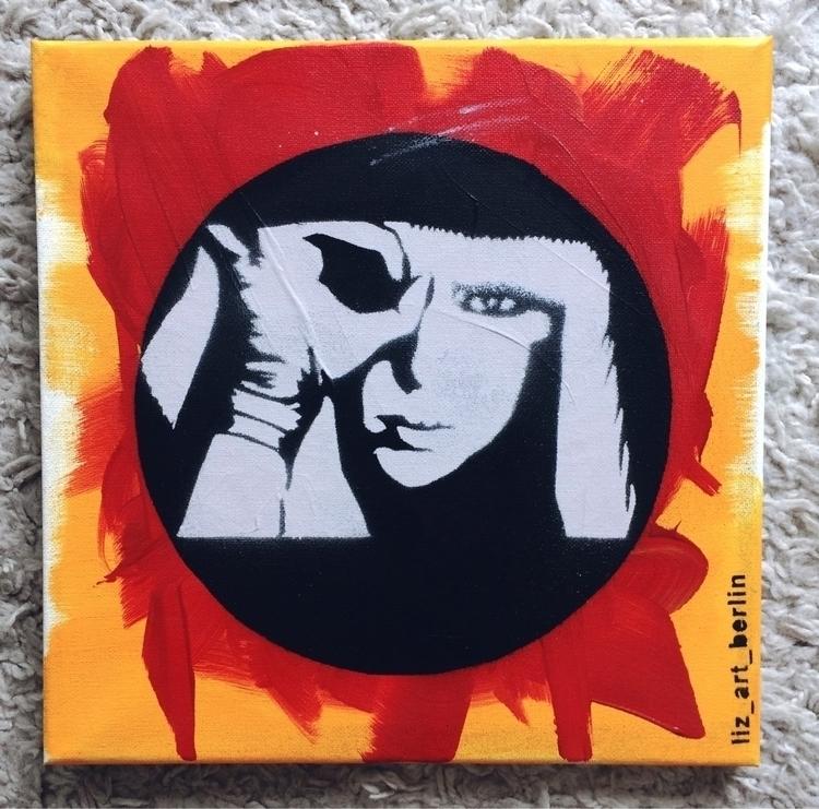 POKERFACE acrylic Canvas Stenci - liz_art_berlin | ello