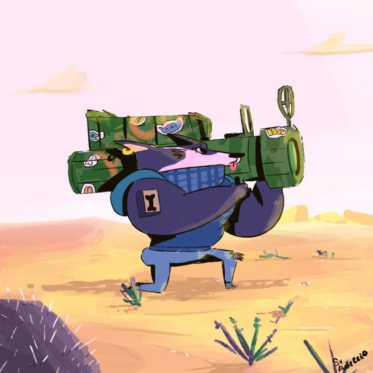 DESERT DOG, character design ex - sr_aderezo | ello