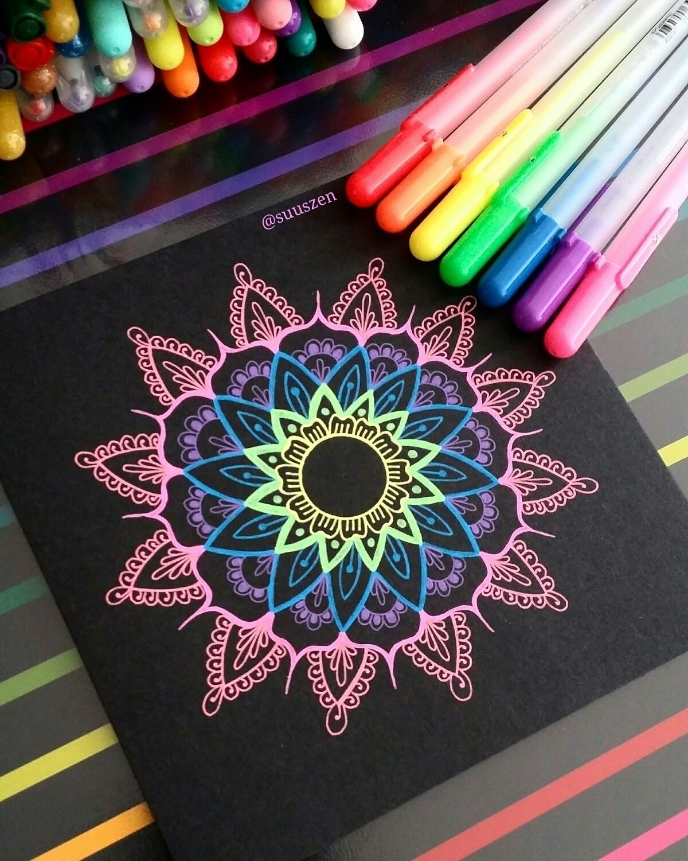 colourful postcard 15,5 cm draw - suuszen   ello