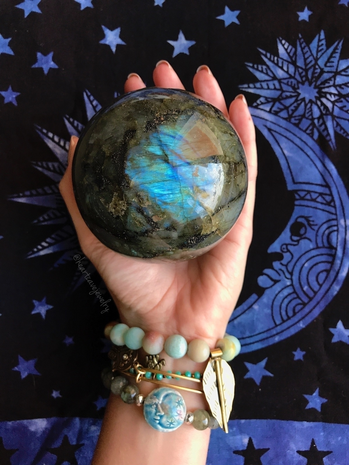 treasured sphere - labradorite, bohodecor - heartcavejewelry | ello