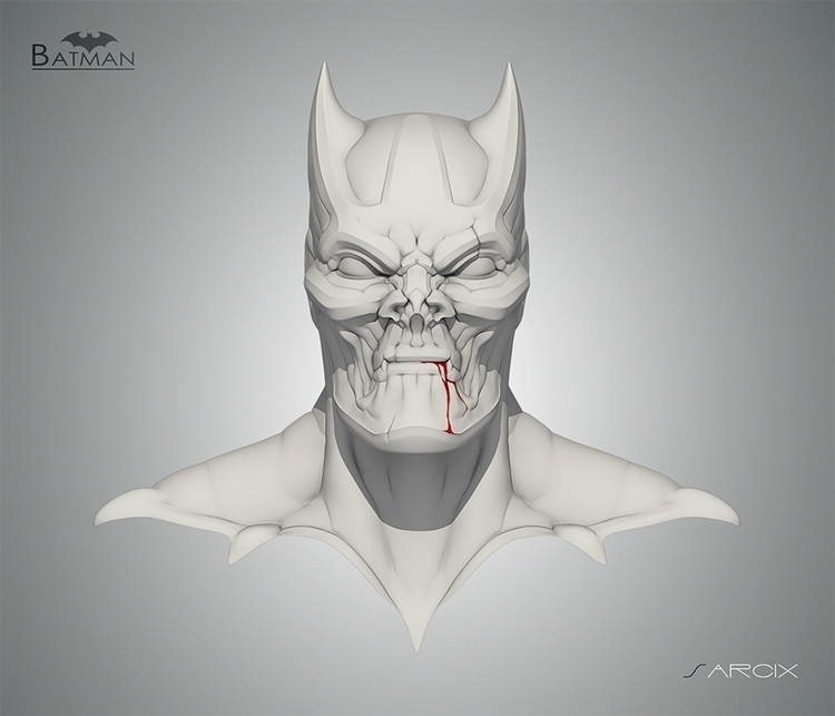 BAT-MAN sculpt sketch website:  - giuseppe3d | ello
