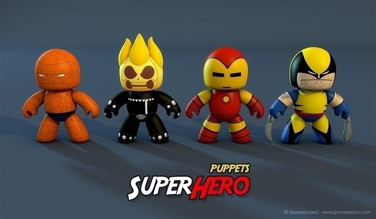 3D superhero puppets, cute? web - giuseppe3d | ello