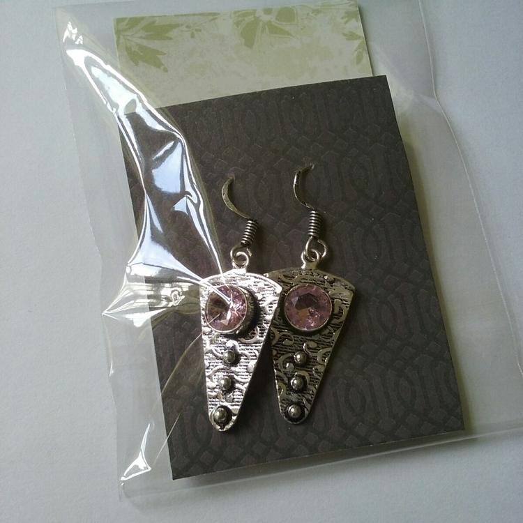 Pink Topaz Quartz Earrings ador - simplydeneb | ello