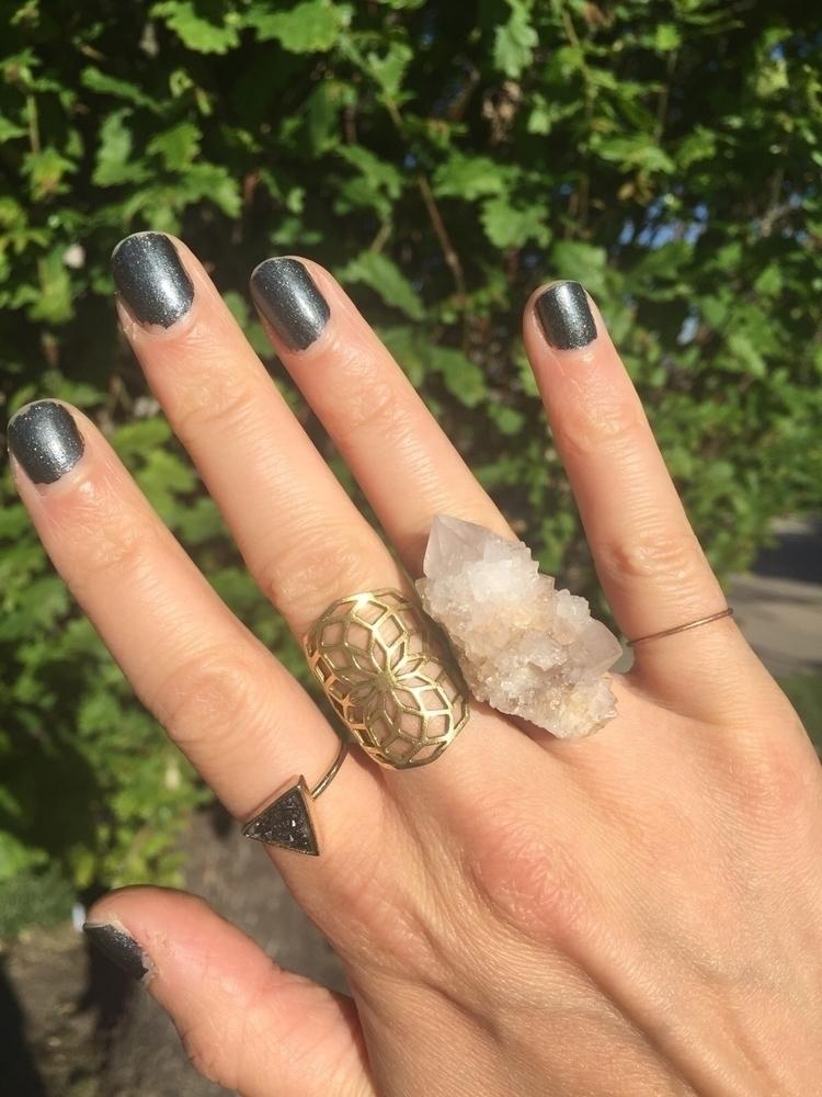 Baby cactus quartz ring - crystal - abkdesigns | ello