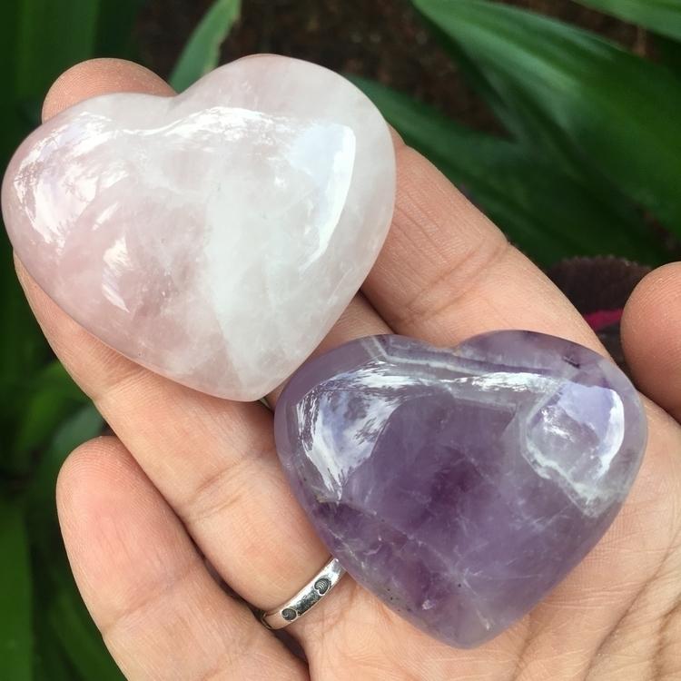 beautiful Quartz Amethyst Heart - thesacredcrystal | ello