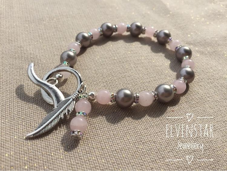 Gorgeous rose quartz, silver pe - elvenstarjewellery | ello
