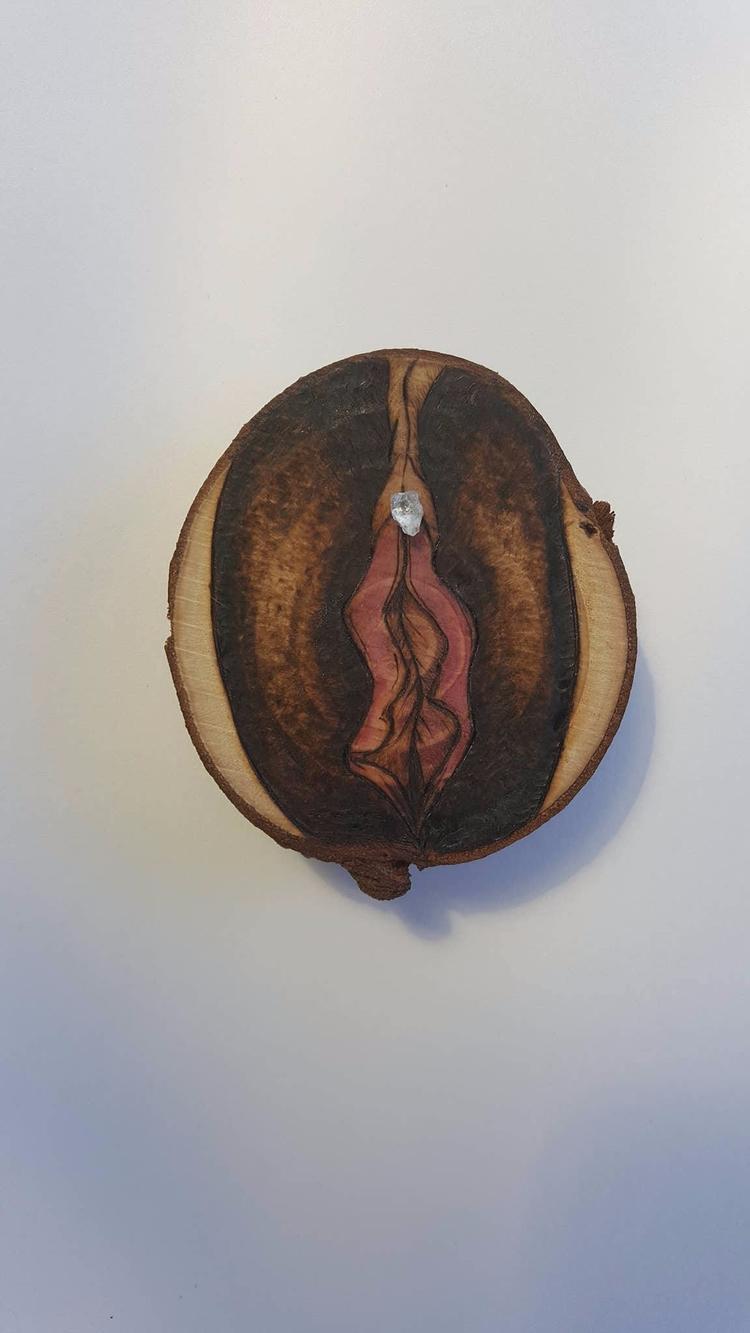 Crystal Vulva || Cherry Wood Ce - thecrystalpyre | ello