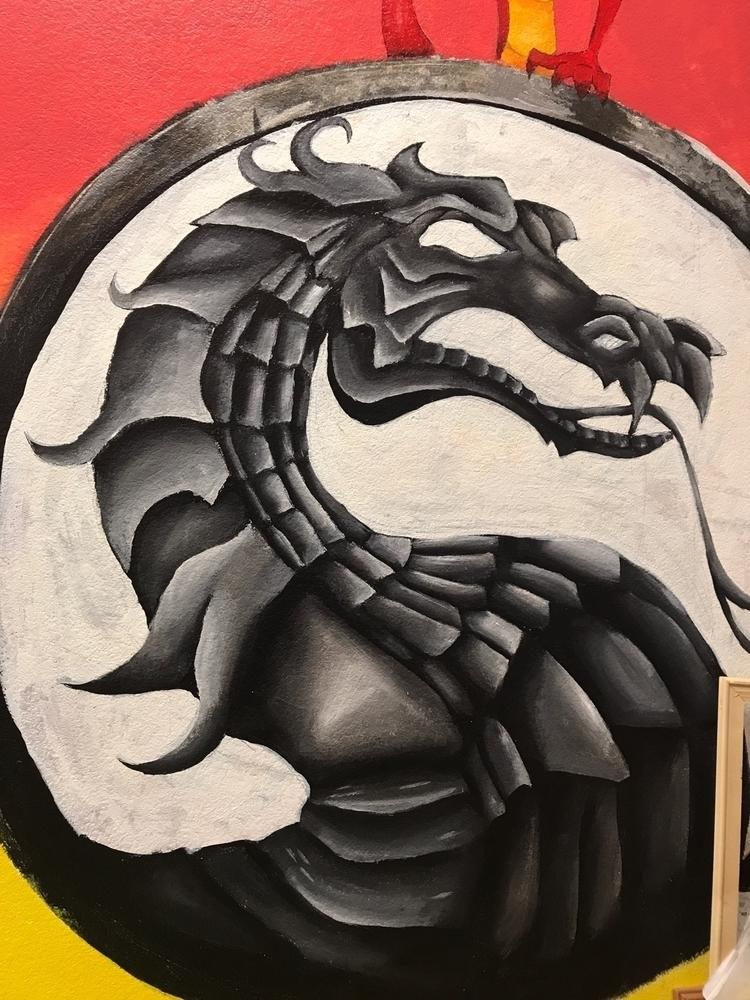 WIP - Part dragon mural classro - jessashleydesigns | ello