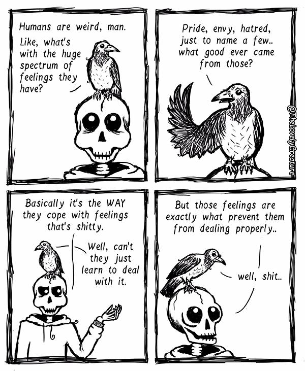 Humans pretty weird - humansareweird - thelovelycreature | ello