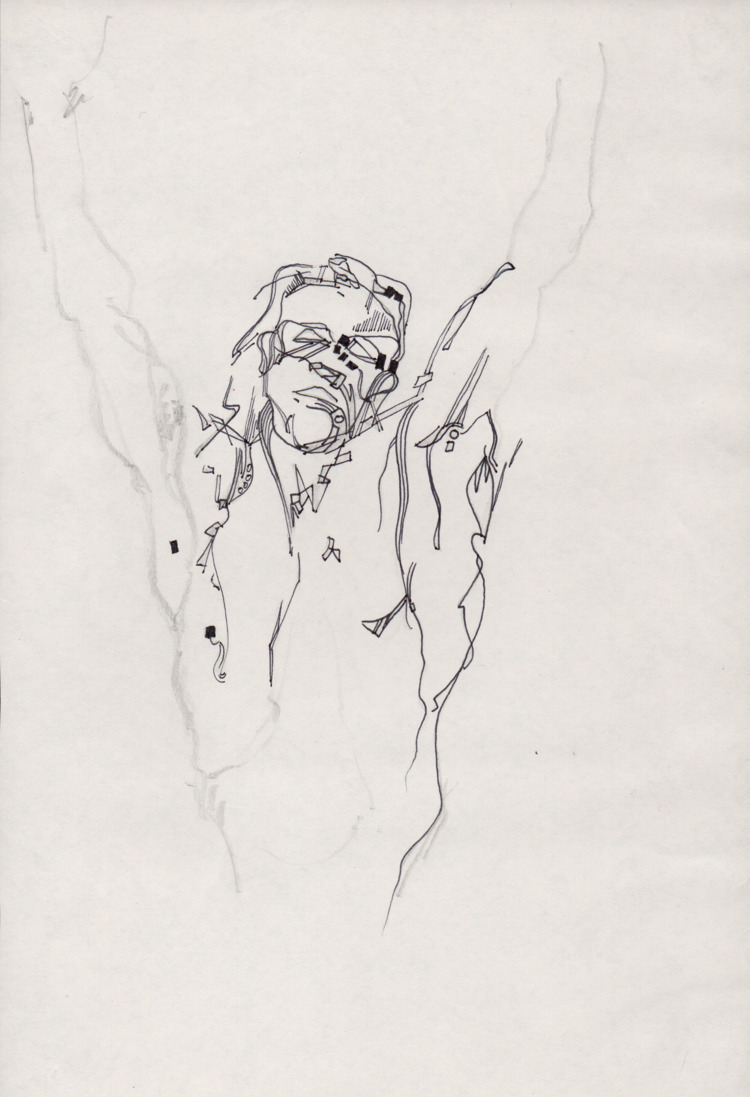 Body study - Pen Ink mannen-mou - lcs-illustration | ello