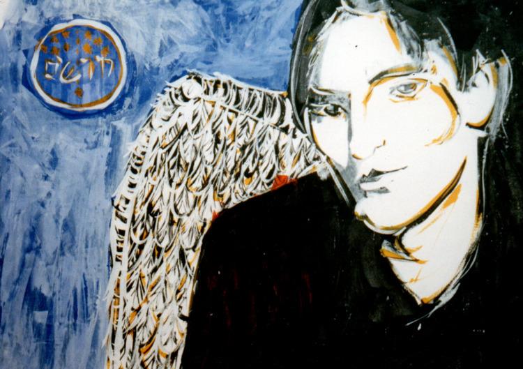 Angels Demons - 1998 Acrylic pa - lcs-illustration | ello