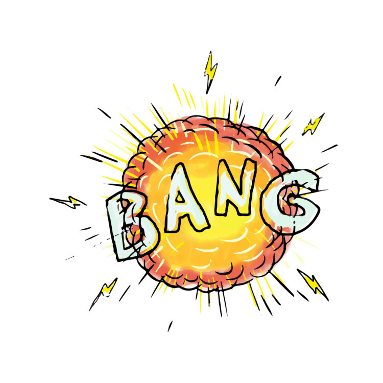 Explosion, Bang, Cartoon, retro - patrimonio | ello