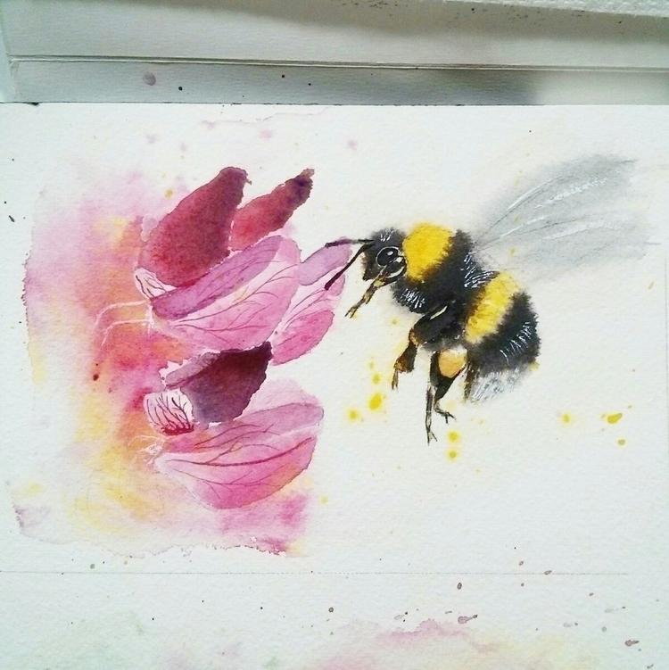 Bumble Bee dragon snaps~ painte - clarrydoll | ello