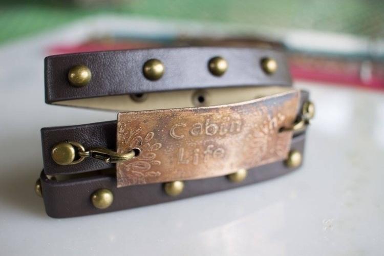 Cabin Life wrap bracelet bronze - fivehandsstudio   ello