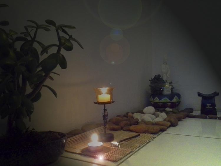detalhe da sala de meditação - movimentandosonhos | ello