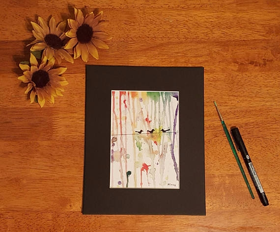 5x7 print original water color  - gypsysoulartistry | ello