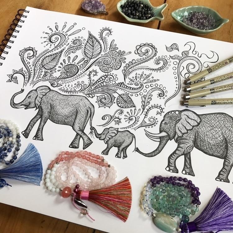 :elephant::prayer_beads:Drawing - maryajewelry | ello