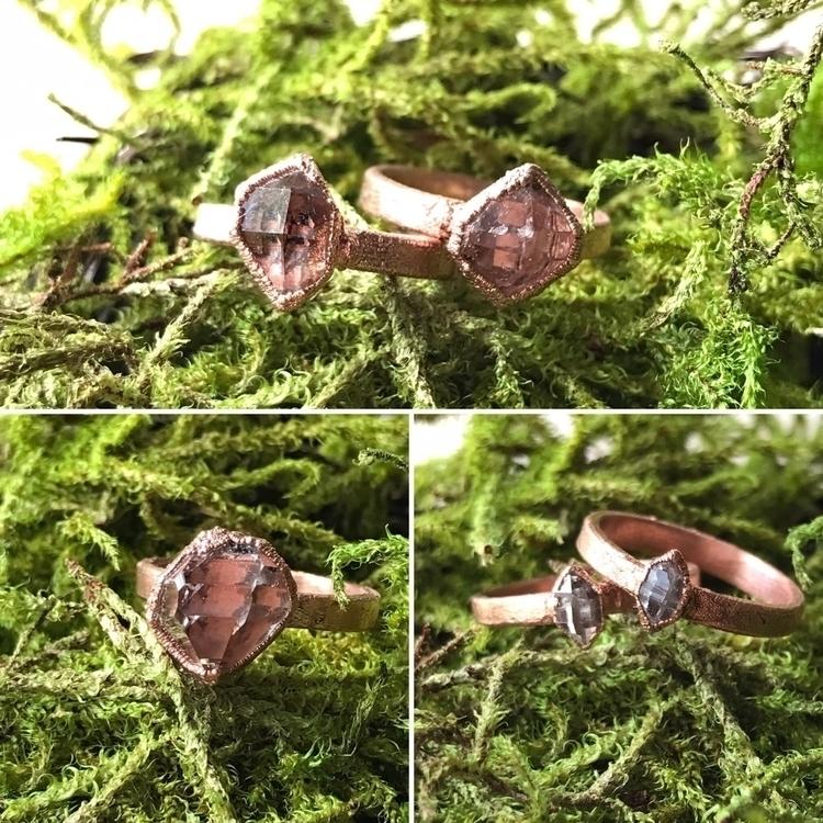 Loving Herkimer diamond rings t - yamsjewelry   ello