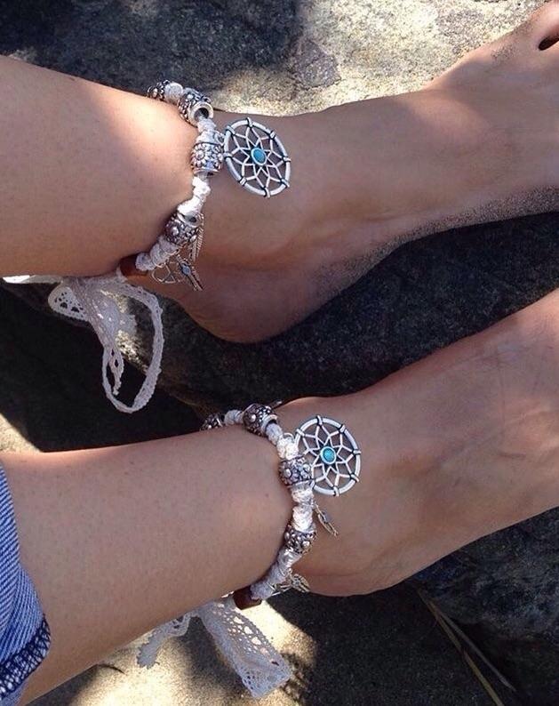 Coachella style anklets:palm_tr - bohoelementsdesigns | ello