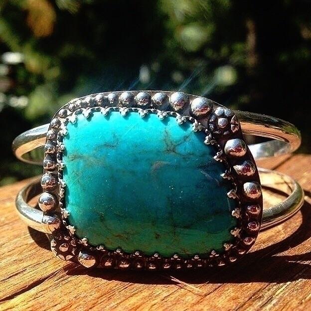 cuff piece turquoise, Bisbee, b - happysoulcollective | ello