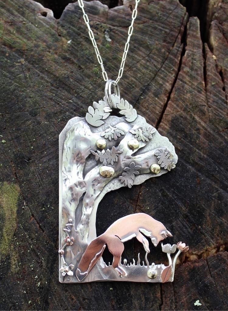 silver, copper, brass pendant f - tamaralyn | ello
