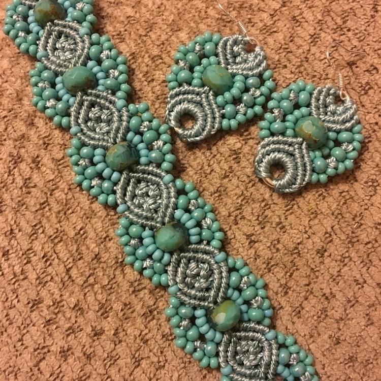 matching bracelet - hkmacramejewelry | ello