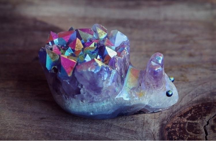Adorable aura amethyst snail  - crystals - citrinevail | ello