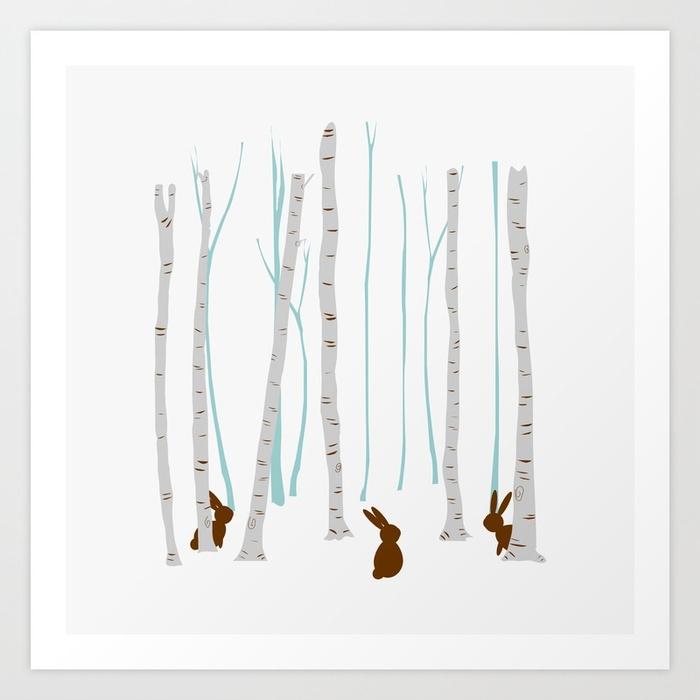 Rabbits woods - rabbit, brown, forest - miideegrafiche   ello