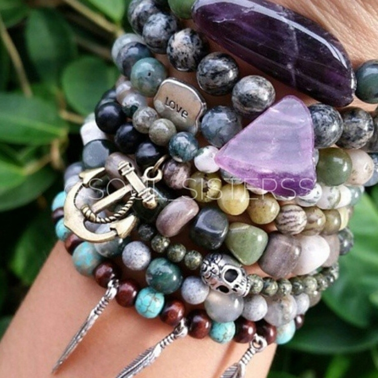 wrong gemstone stacking bracele - soul_sisterss | ello