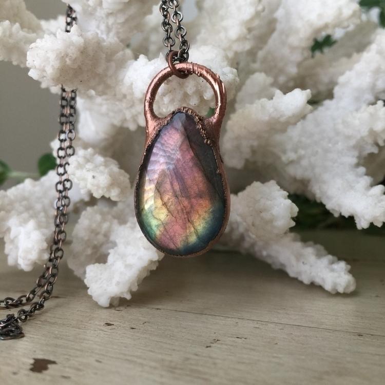:rainbow:Rainbow Labradorite:ra - enchantedbycara | ello