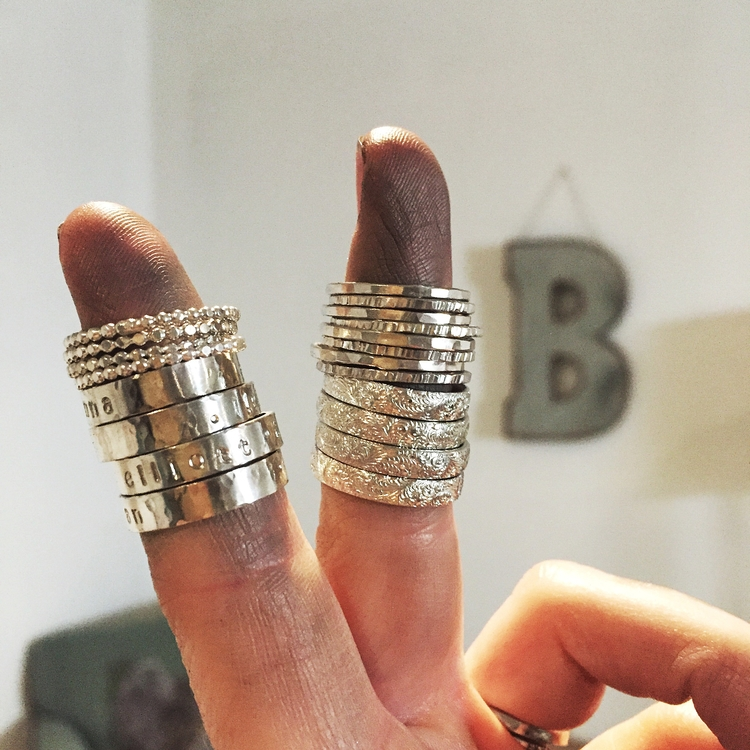 Personalized ring stacks, dirty - blueskyblackbird | ello