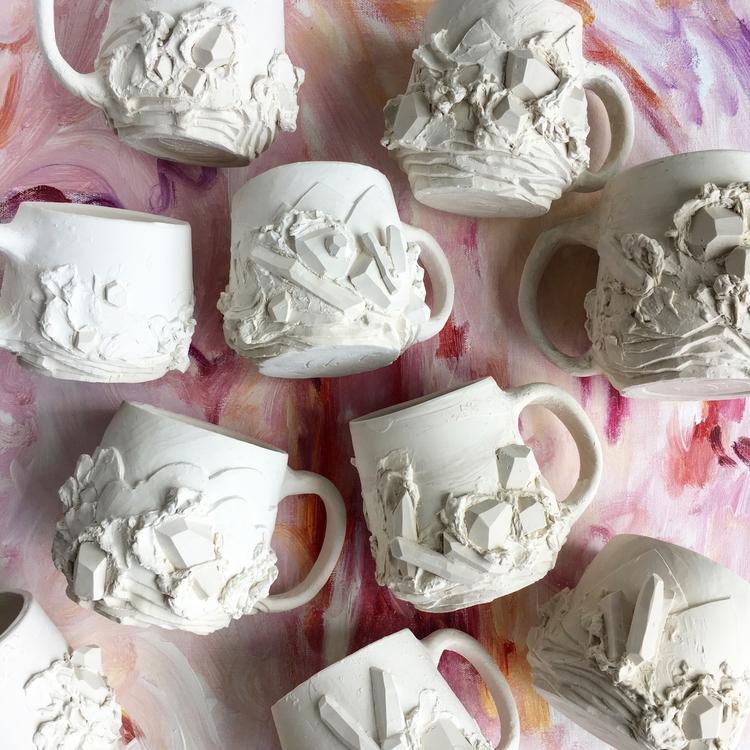 Prepping mugs - crystals, gemstones - tthomasarts | ello