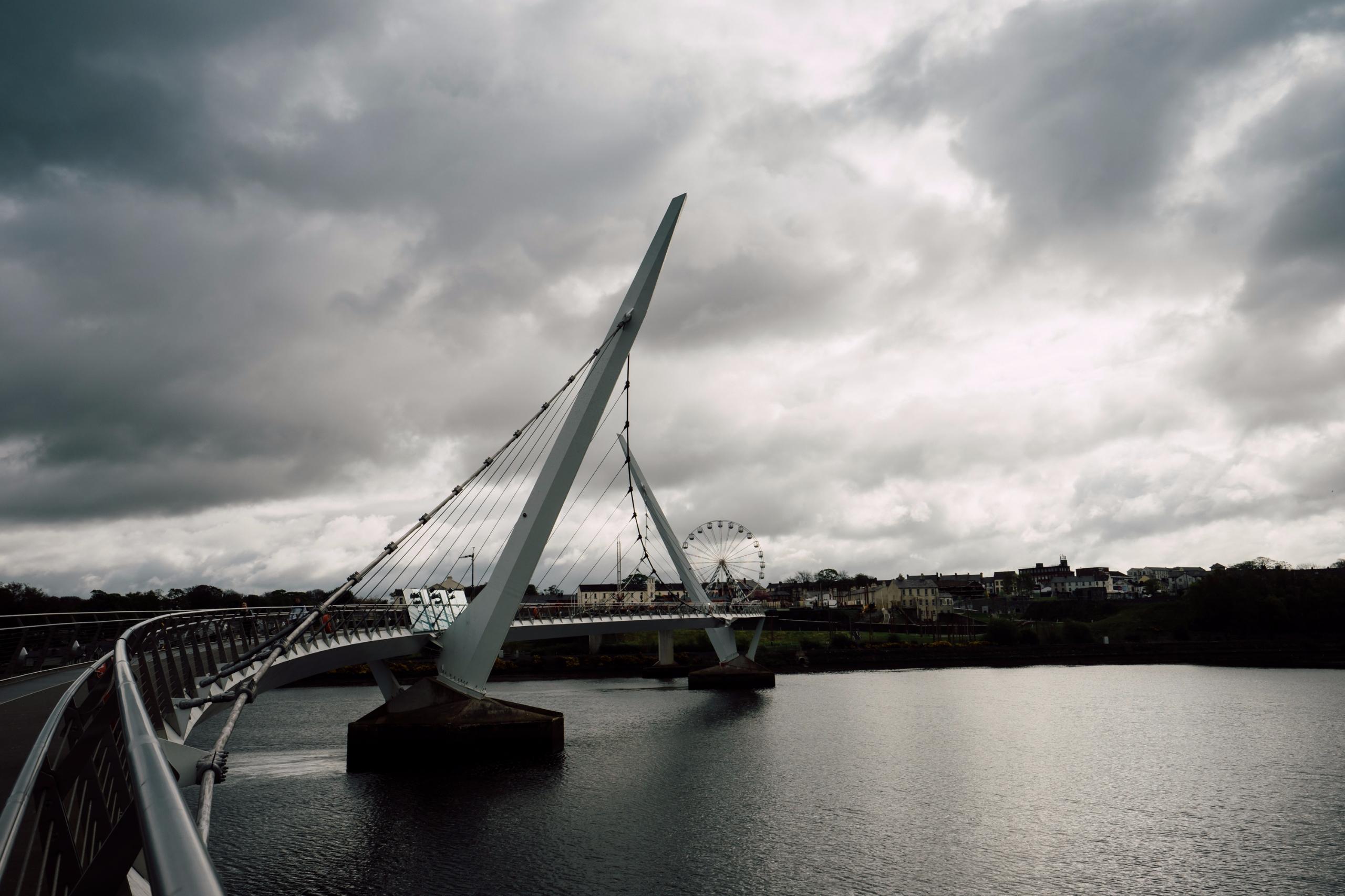 Peace Bridge, Derry Northern Ir - nickstanley   ello