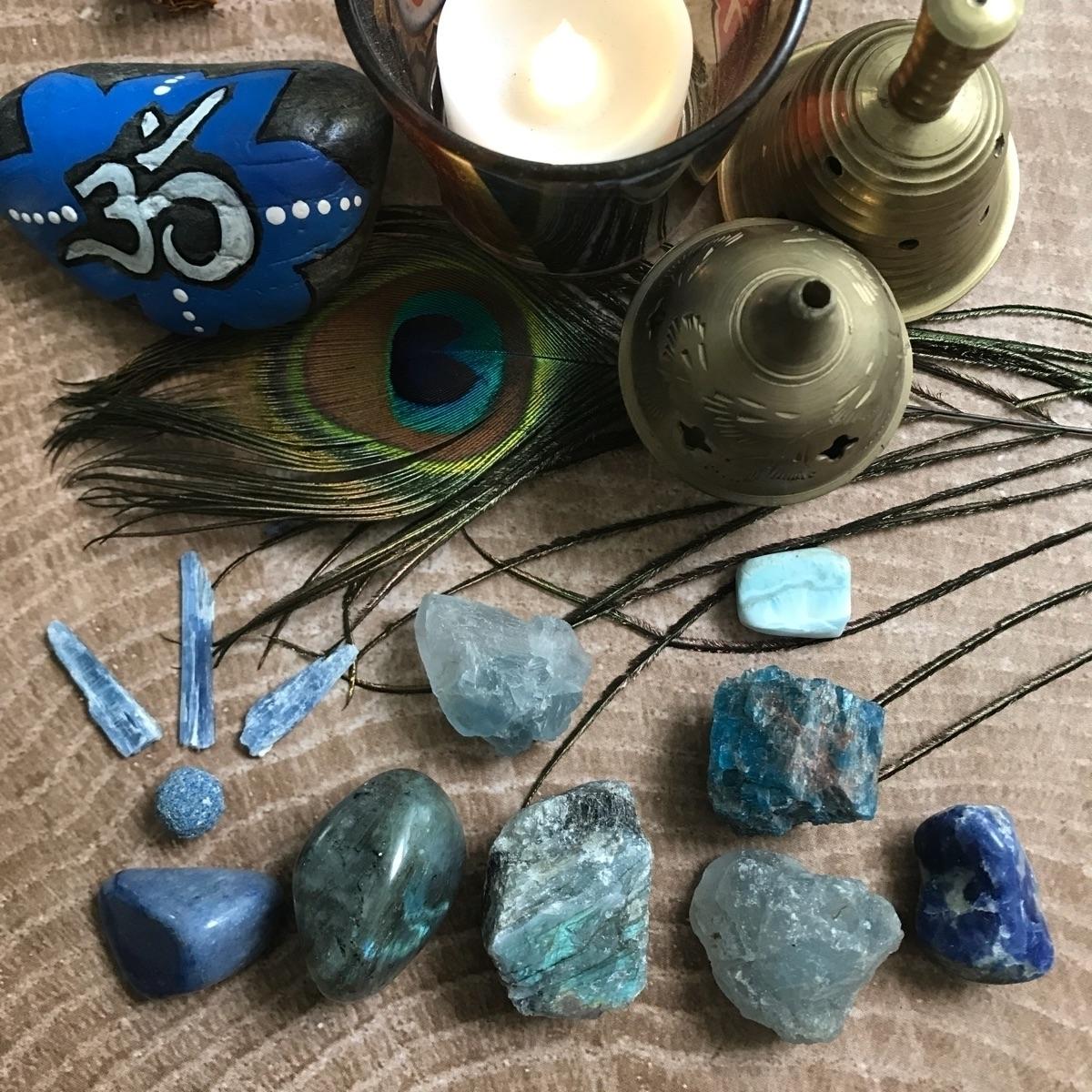 Healing hues - blues, crystals, crystalhealing - thelunarfae | ello