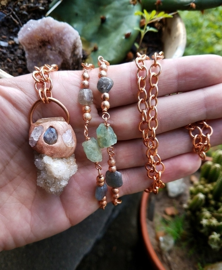Spirit Quartz Necklace labrador - eclecticriverdesigns | ello
