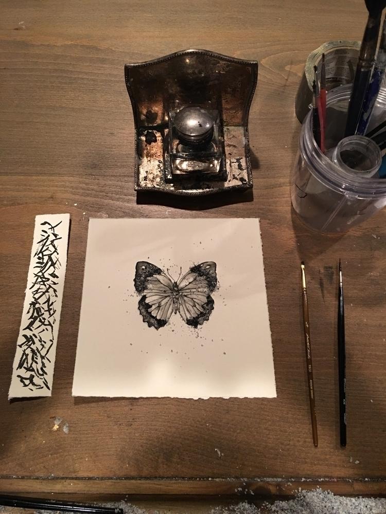 butterfly waltz video - ink, painting - alexakarabin | ello