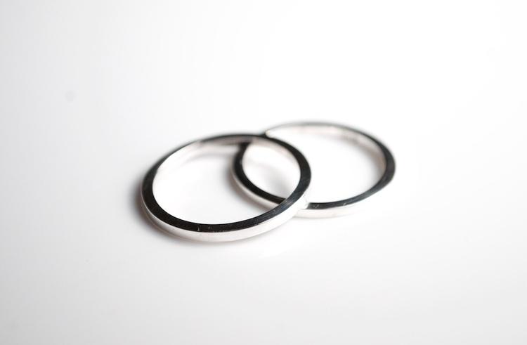 Square Band Stacker Rings - sta - mineralrare | ello