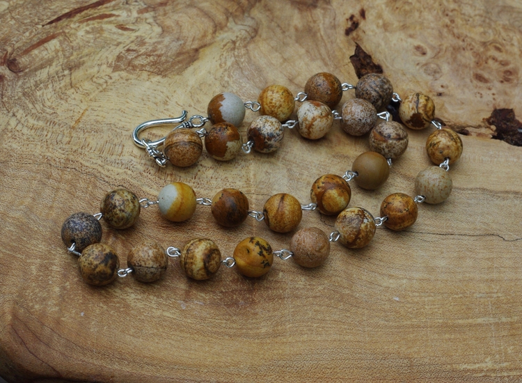 Picture jasper necklace men wom - audacitywear | ello