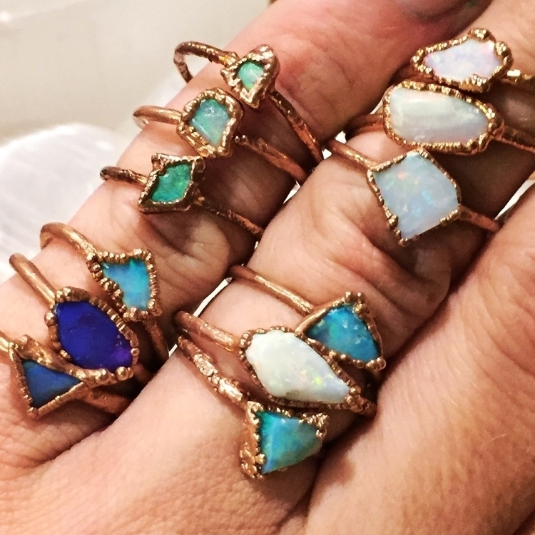Stack em ya em! Raw opals brigh - thesixofcups | ello