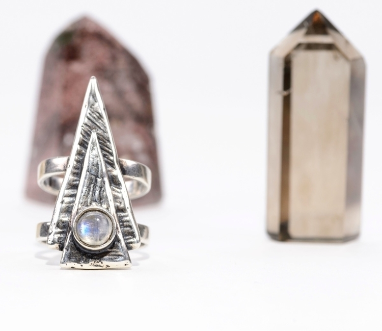 Stacked Triangle Ring rainbow m - jsouthernstudio | ello